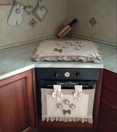 Photo of Kitchen cover set, bedspreads, glove box, style holder …