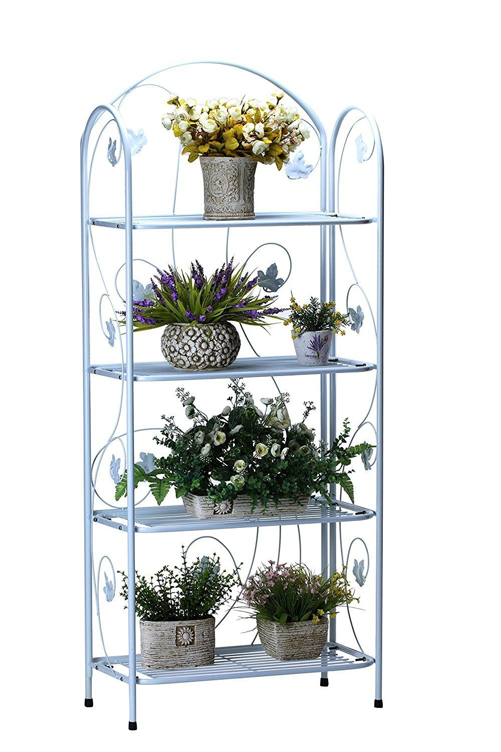 4tier plant stand with rustic maple leaf design modern