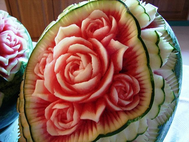 Kind of makes me want to take a knife to a watermelon too.