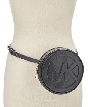 508955957d7185 Michael Michael Kors Round Mk Logo Fanny Pack - Black | Products ...