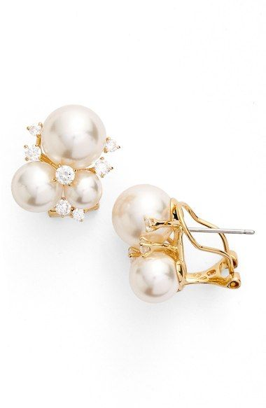 Nadri Faux Pearl Earrings Available At Nordstrom