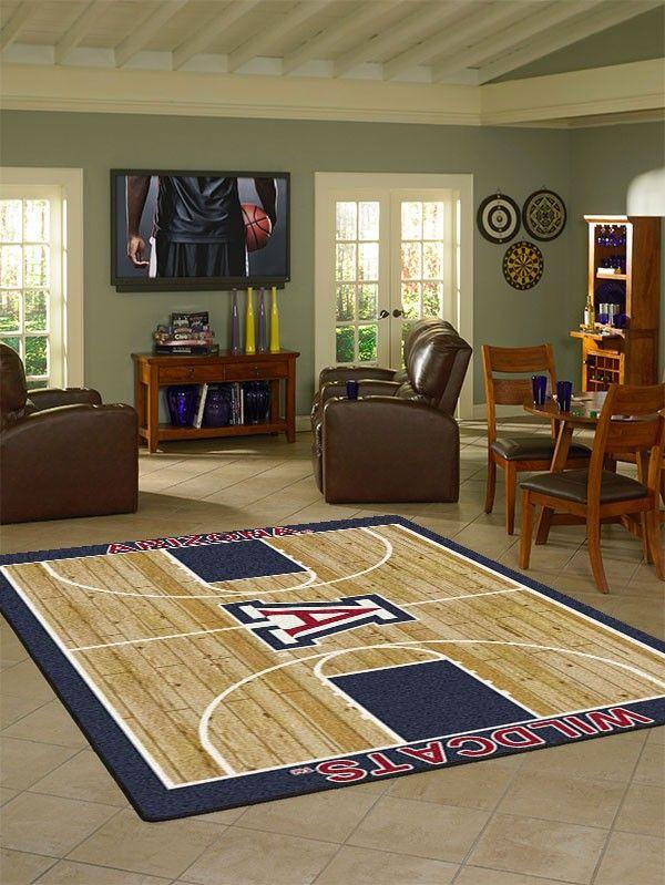 arizona collegiate basketball court rug   ncaa college basketball