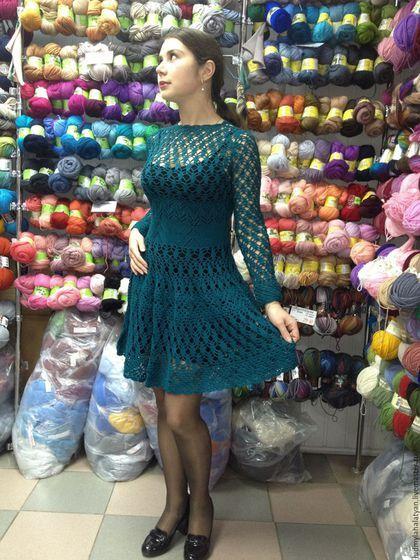 222298c209f Платья ручной работы. Ярмарка Мастеров - ручная работа. Купить ажурное  платье из полушерсти.