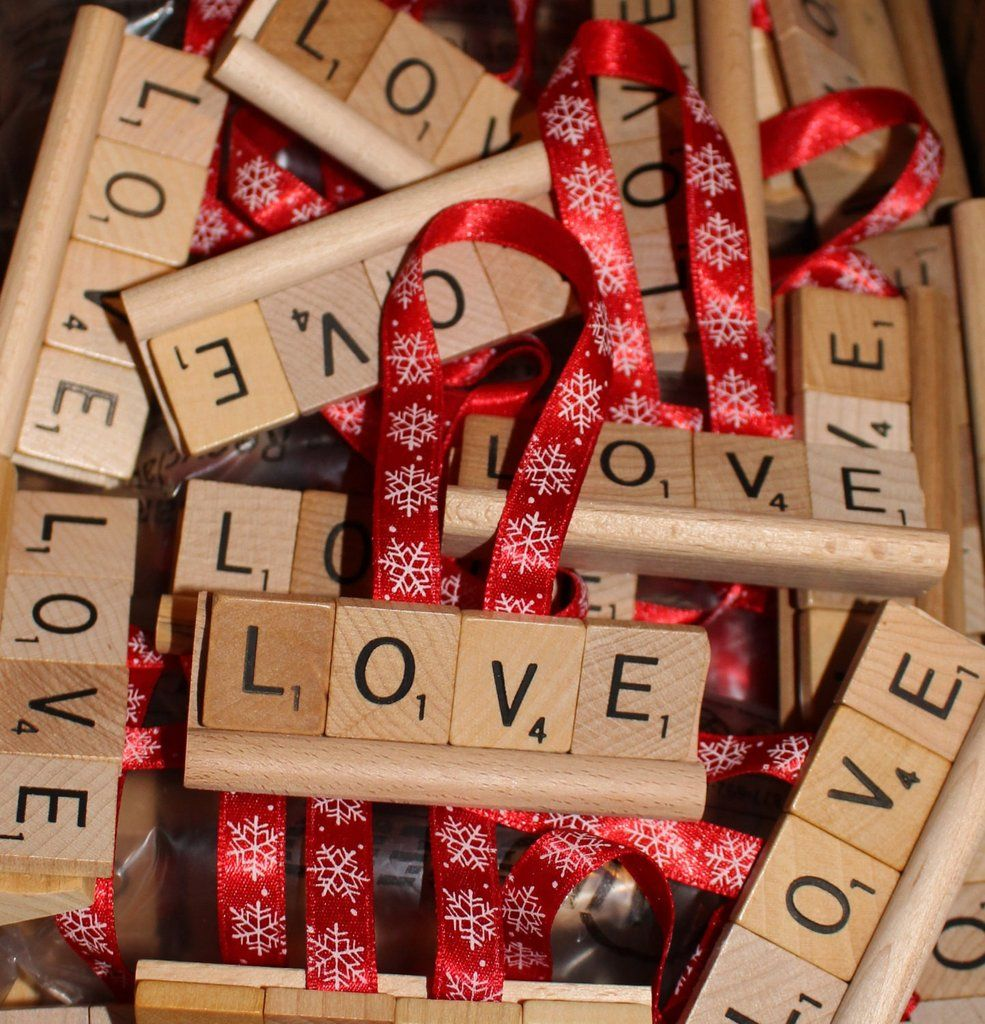 Christmas Ornament, Love Ornament, Love Christmas Ornament, Love, Scrabble Ornament, Scrabble, Noel, brr, hoho, Jesus, God, Alleluia, Faith