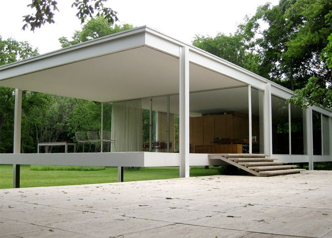 10 mid century modern homes by famous architects that you for Famous minimalist buildings