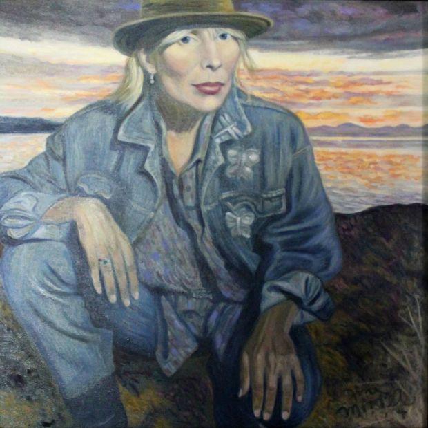 Self portrait, Joni Mitchell i love joni...