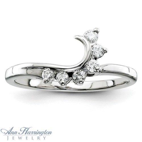14k White Gold 1 6 Ct Tw Diamond Ring Wrap Swirl Diamond Ring
