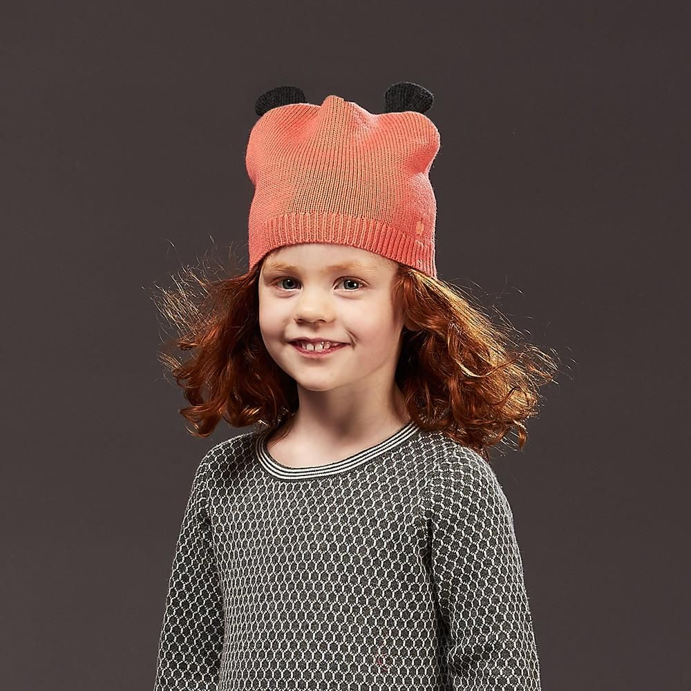 5b392a9e952 ROSCO - Unisex Kids Knitted Hat with Ears - Sorbet