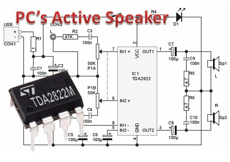 Mini Amplifier Untuk Pc S Active Speaker Penguatan