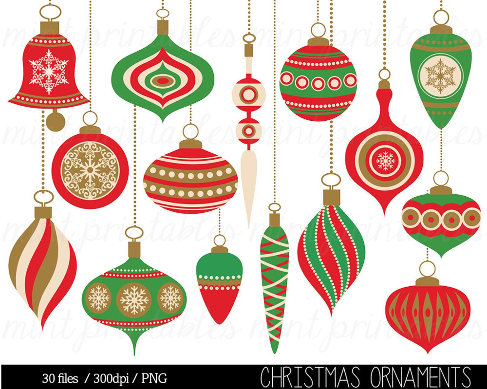 42+ Vintage christmas ornament clipart info