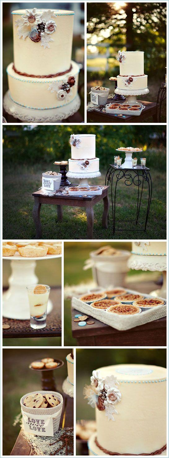 Vintage Button Wedding-The Cake