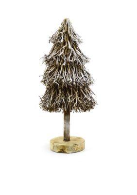 Sheas Wildflower Company  33-in. Round Driftwood Christmas Tree Decor