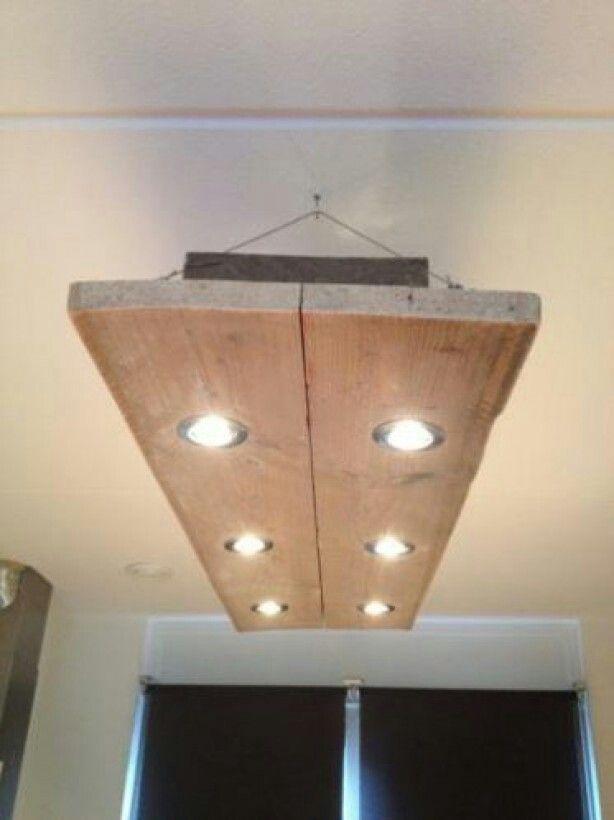 Steigerhouten lamp voor boven een eettafel bijv. - HOUT | Pinterest ...