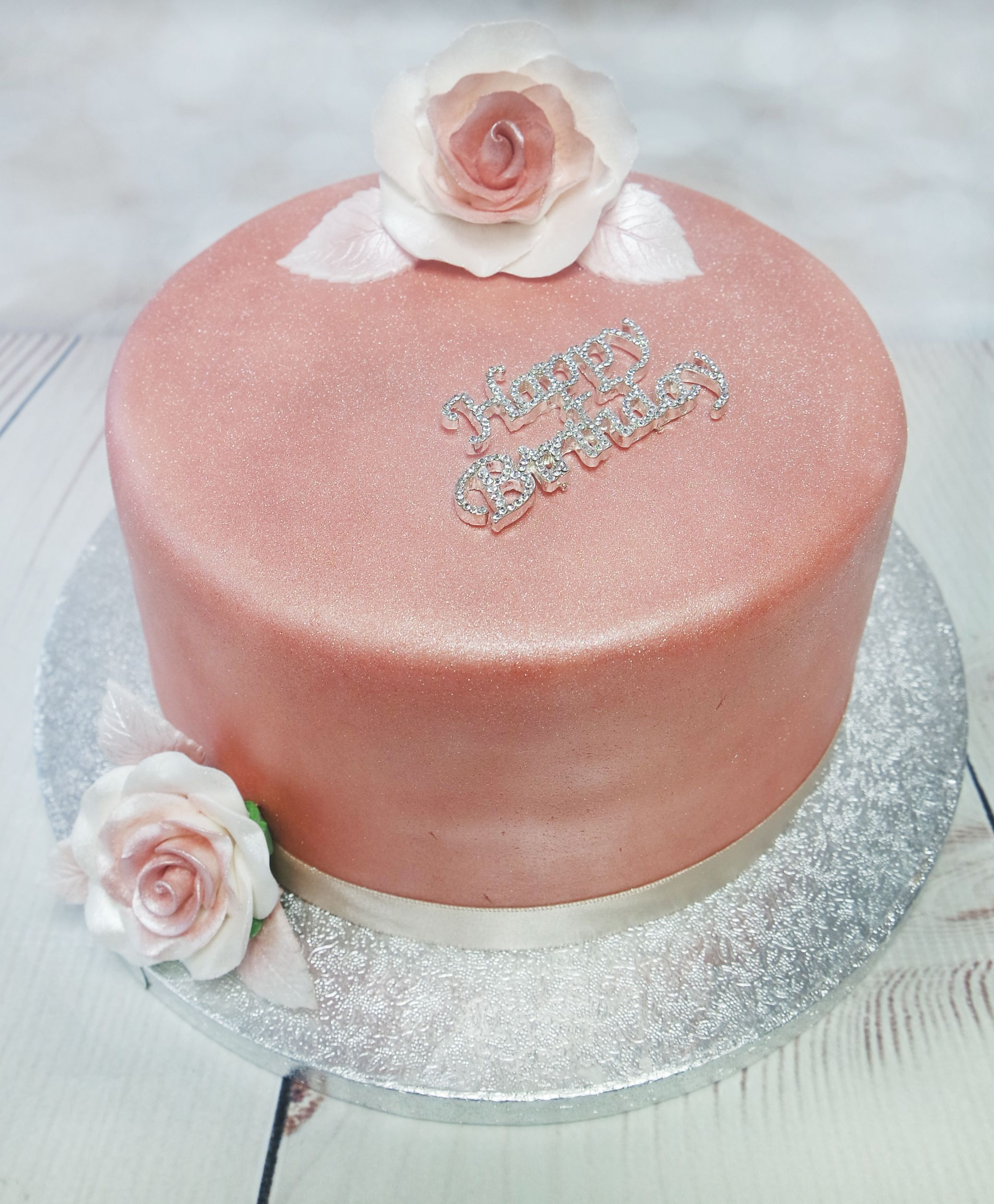 Surprising Simple And Elegant Rose Gold Cake Rosegoldcake Funny Birthday Cards Online Bapapcheapnameinfo