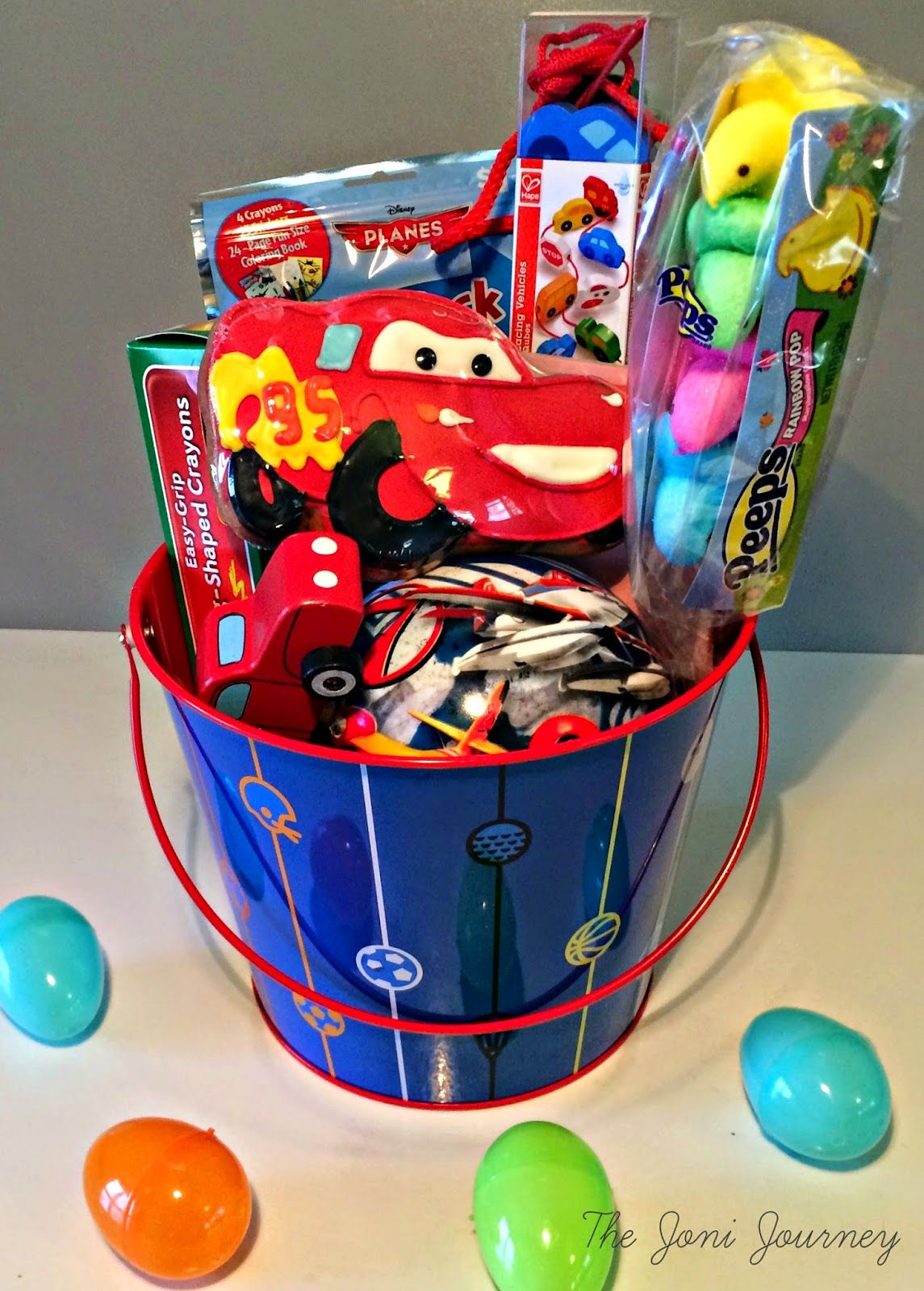 The Joni Journey Cars Easter Basket Boy Easter Basket Ideas