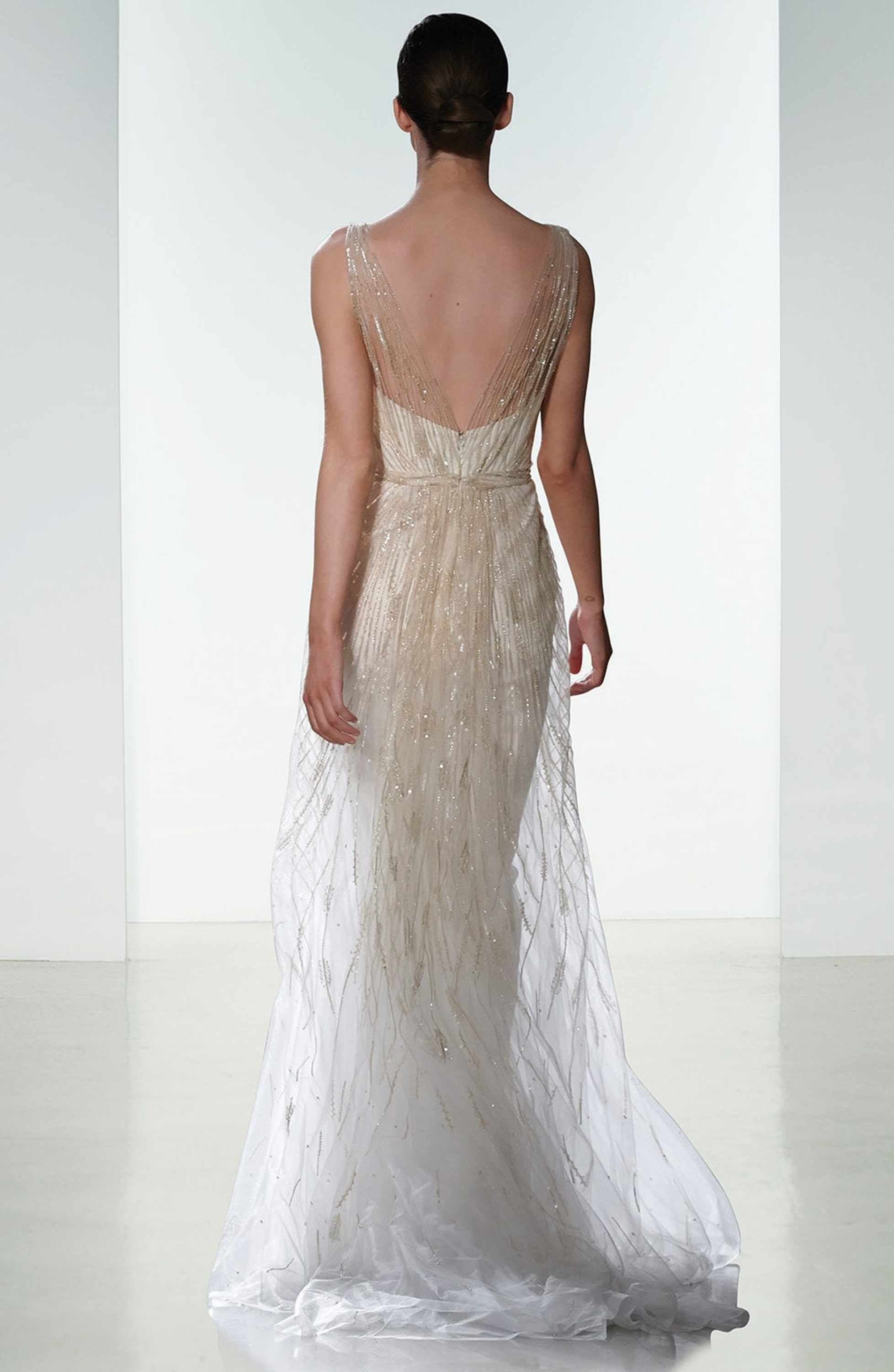Main image amsale talia hand beaded low vneck gown fashion