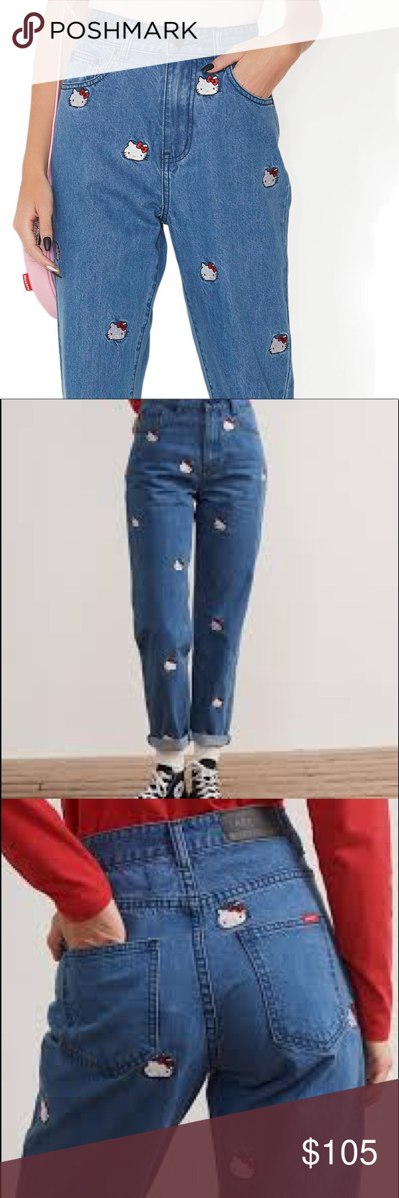 6eb7f4fc2 Lazy Oaf Hello Kitty Emb Jeans Brand new never been been worn . Super  adorable. The price is firm! Lazy Oaf Pants