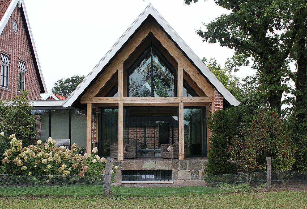 Landelijk Huis Nyc : Stoer landelijk en transparant passend bij de woning serre