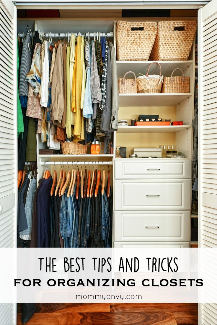 The Best Tips And Tricks For Organizing Closets! The Best Spring Cleaning  Series Www.mommyenvy.com