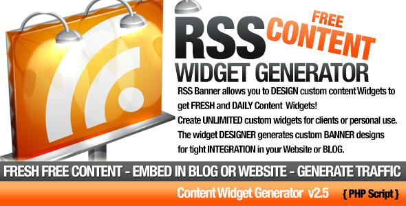 RSS Banner & Content Widget Generator | Code-Scripts-and