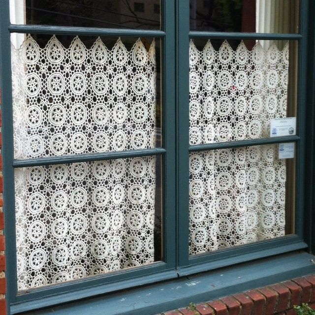 Attractive French Style Macrame Lace Curtains, Needed For Every Window In Our House!