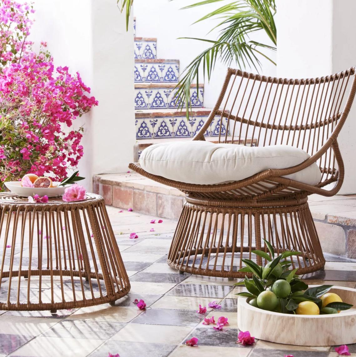 patio papasan chair