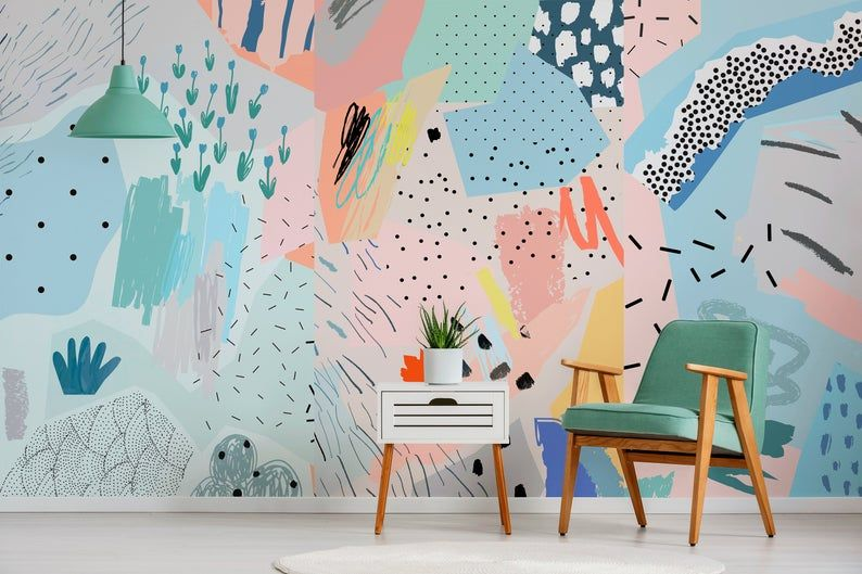 Removable Wallpaper Peel And Stick Wallpaper Wall Paper Wall Mural Abstract Pop Wallpaper A521 Wall Wallpaper Removable Wallpaper Wall Murals