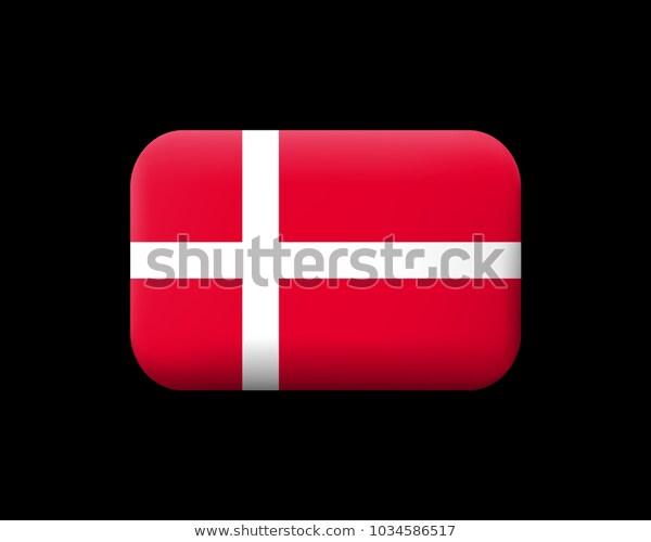 Flag Denmark Matted Vector Icon Button Stock Vector Royalty Free 1034586517 In 2020 Denmark Flag Flag Royalty Free Stock Photos