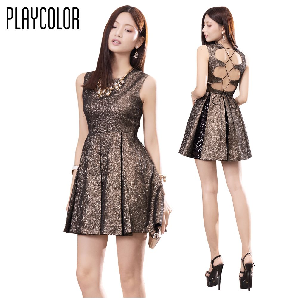 Playcolor mini cocktail dresses sexy party dress sleeveless prom