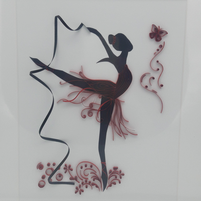 квиллинг открытки гимнастика балерины этом живописном