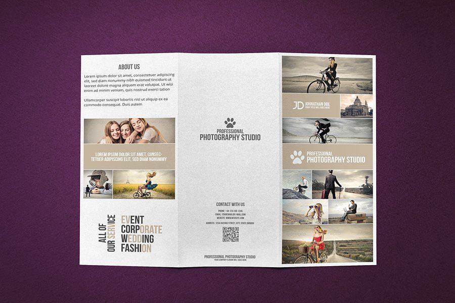 Photography Studio Brochure  Card Pinterest Photography studios