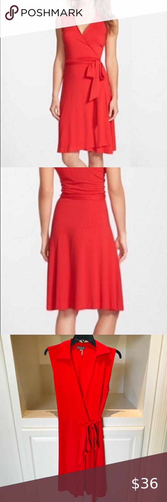 Vince Camuto Sleeveless Wrap Dress Euc So Fun Flattering And Easy To Wear Vince Camuto Red Sleeveless Colorful Dresses Sleeveless Wrap Dress Clothes Design [ 1740 x 580 Pixel ]