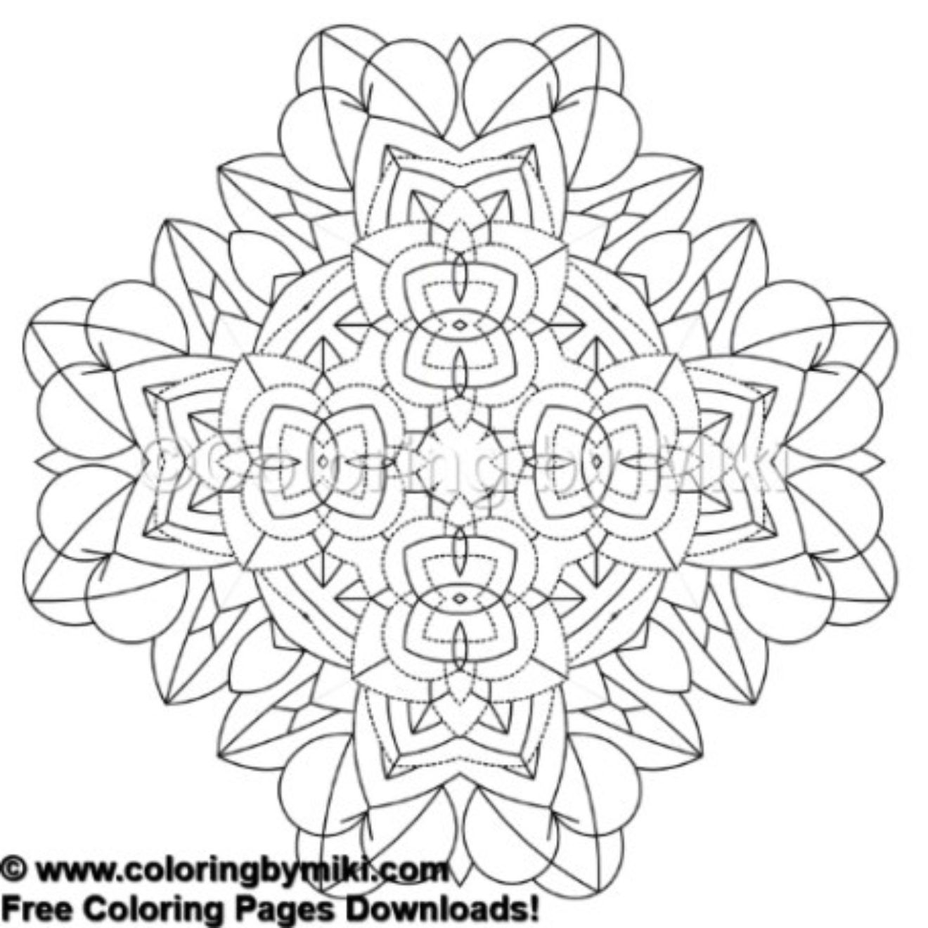 Kaleidoscope Sacred Geometry Coloring Page 620 #