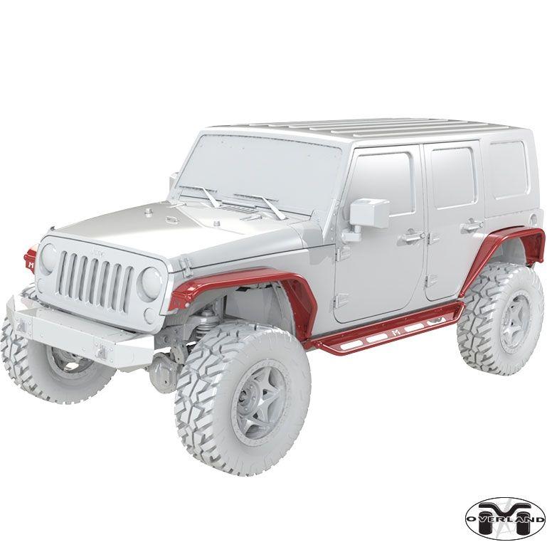 Jk Wrangler Full Overland System 4 Door Jeep Fenders Jeep