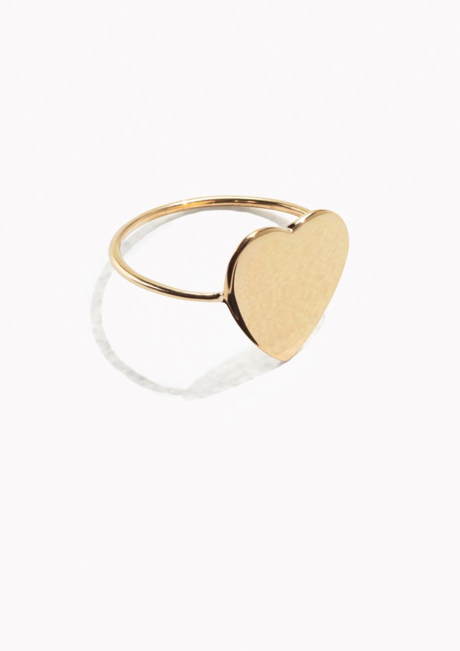 50a3db4ea & Other Stories Sweetheart Ring in Gold | Jewels and sparkly things ...
