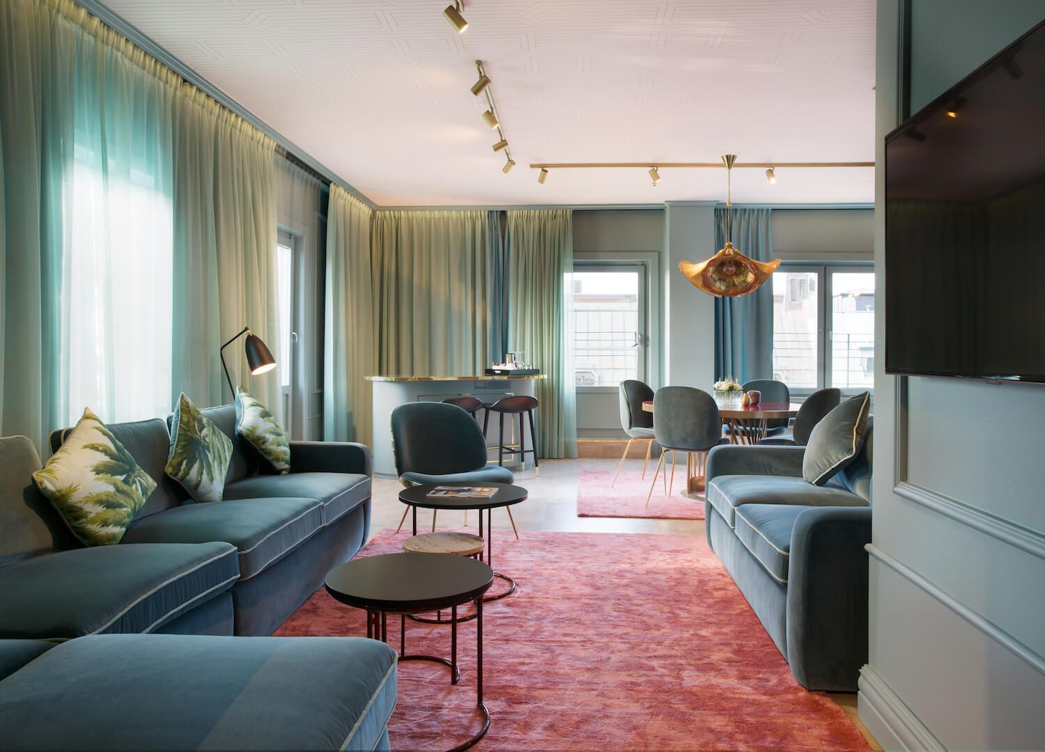 Bright color pop inspo love those curtains haymarket hotel est living stories
