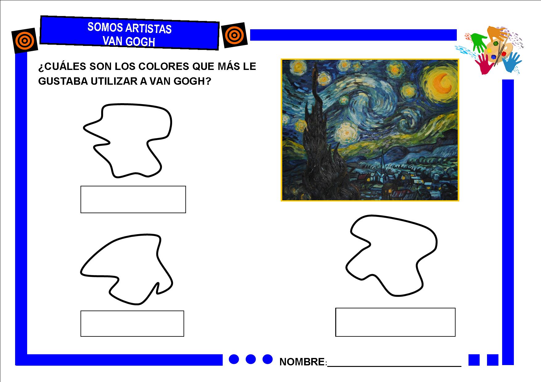 Los colores de Van Gogh | Artistas: Van Gogh | Pinterest | El color ...