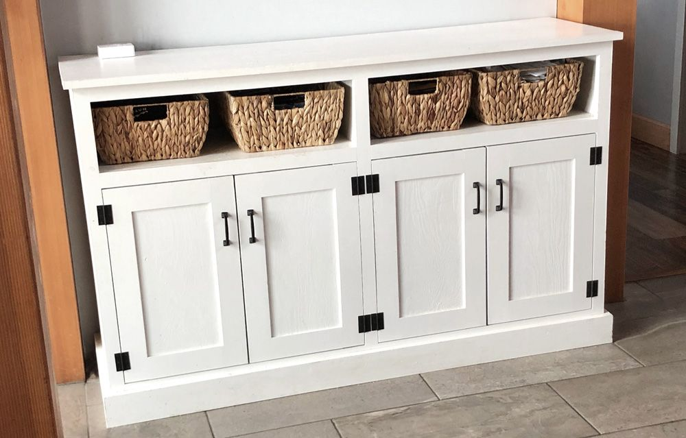 Entryway Console with Open Shelves - Double Width
