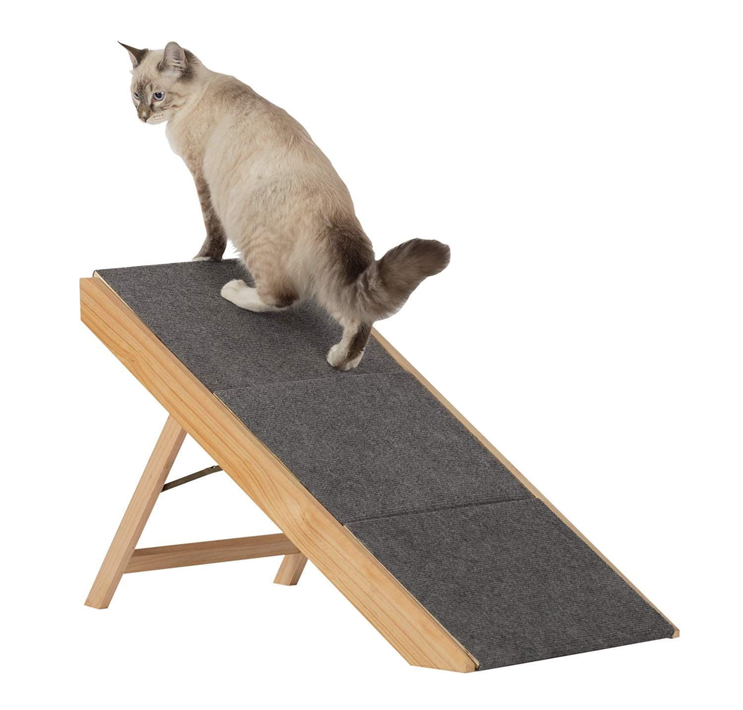 Paws Purrs Portable Pet Stairs Pet Ramp Natural Gray Cat Steps Pet Stairs Pet Ramp