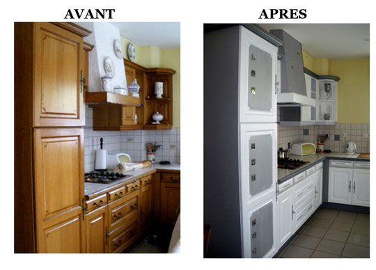 cuisine rustique relook e cuisines renovees cuisine. Black Bedroom Furniture Sets. Home Design Ideas