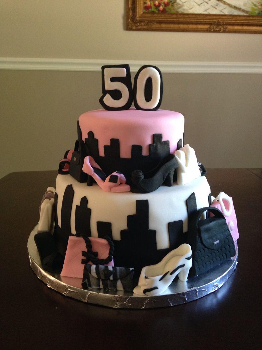 Fashionista Shoppers Cake My Cakes Pinterest Cake Cupcake