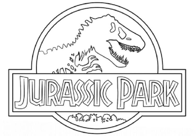 Jurassic Park Dinosaur Coloring Pages Jurassic Park Logo Dinosaur Coloring Pages Jurassic Park