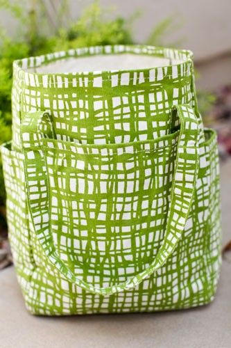 Green Plaid Small Open Tote by Two Loops ($8.48)