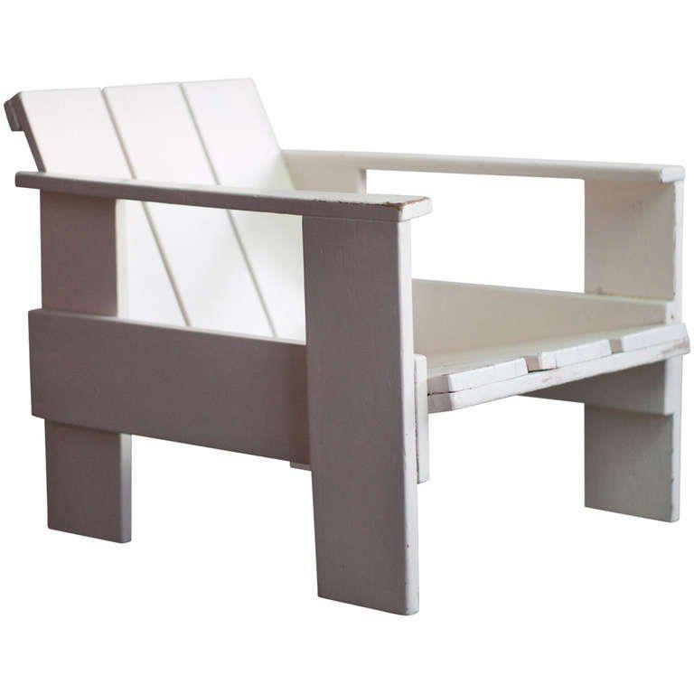 gerrit rietveld prewar crate chair for metz co 1934