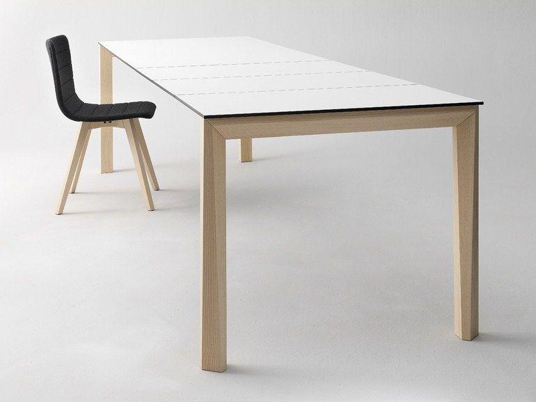 UNIVERSE 160 Tisch aus Holz by DOMITALIA Design Studio Balutto ...