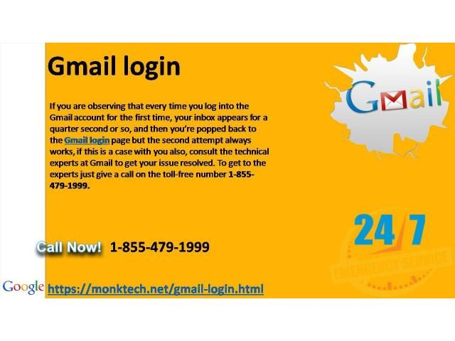 Fix Gmail login problems at 1-855-479-1999 #Gmaillogin