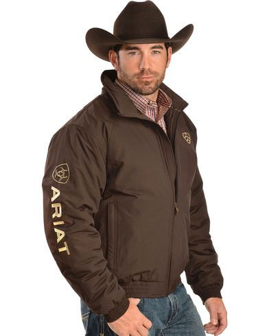 3f413ff0d2 Ariat Brown Insulated Team Logo Jacket