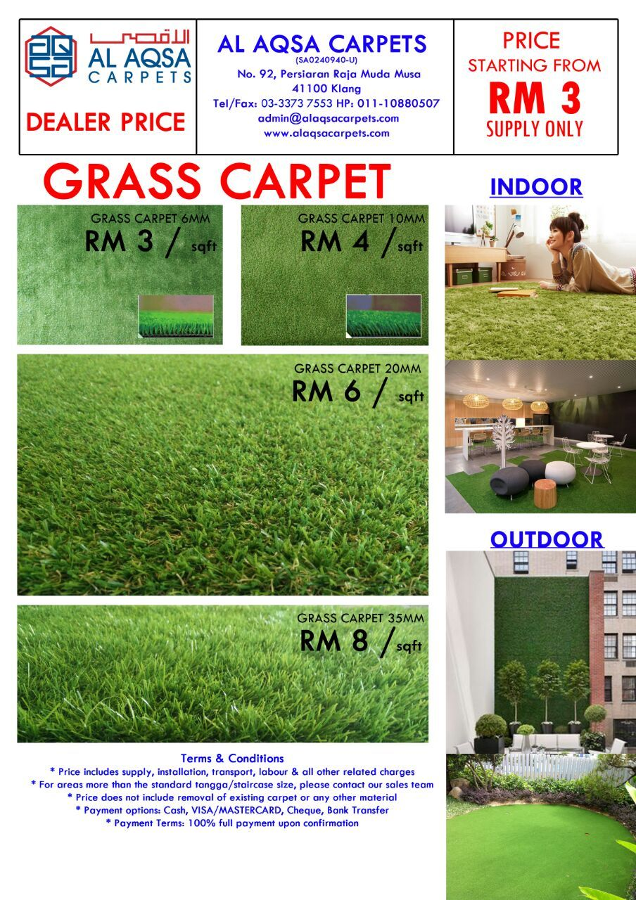 Artificial Gr Carpet Alaqsa Carpets