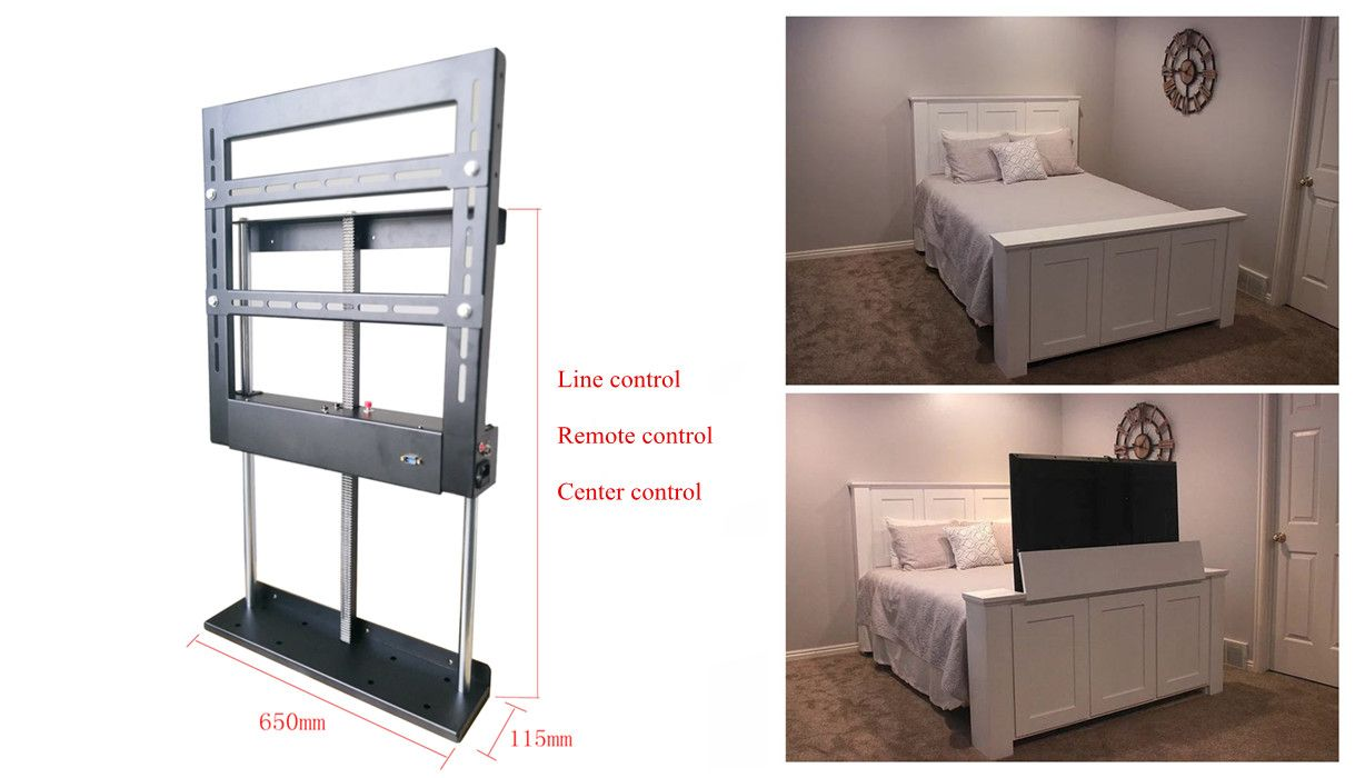 Bed Tv Lift Hidden Pop Up And Drop Down Tv Cabinets With Images