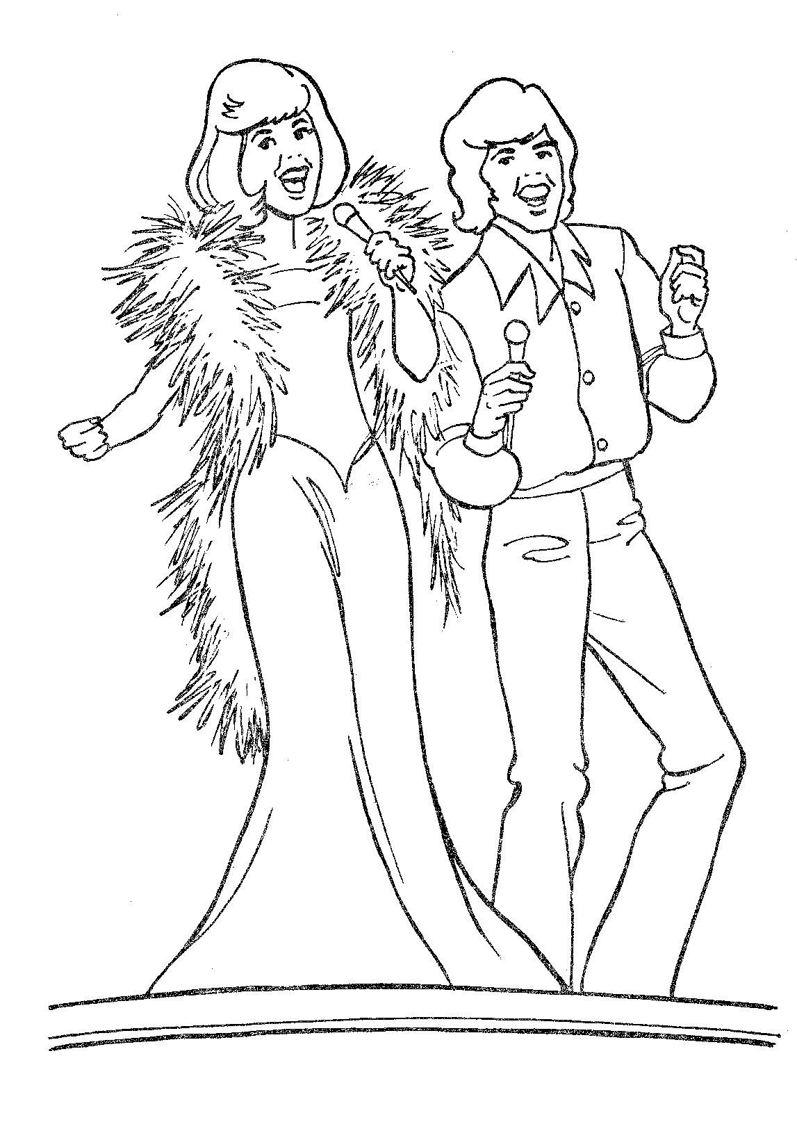 Donny And Marie Page 65 Coloring Book Tv